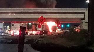 I-10 at US-301 reopens after semi truck on fire