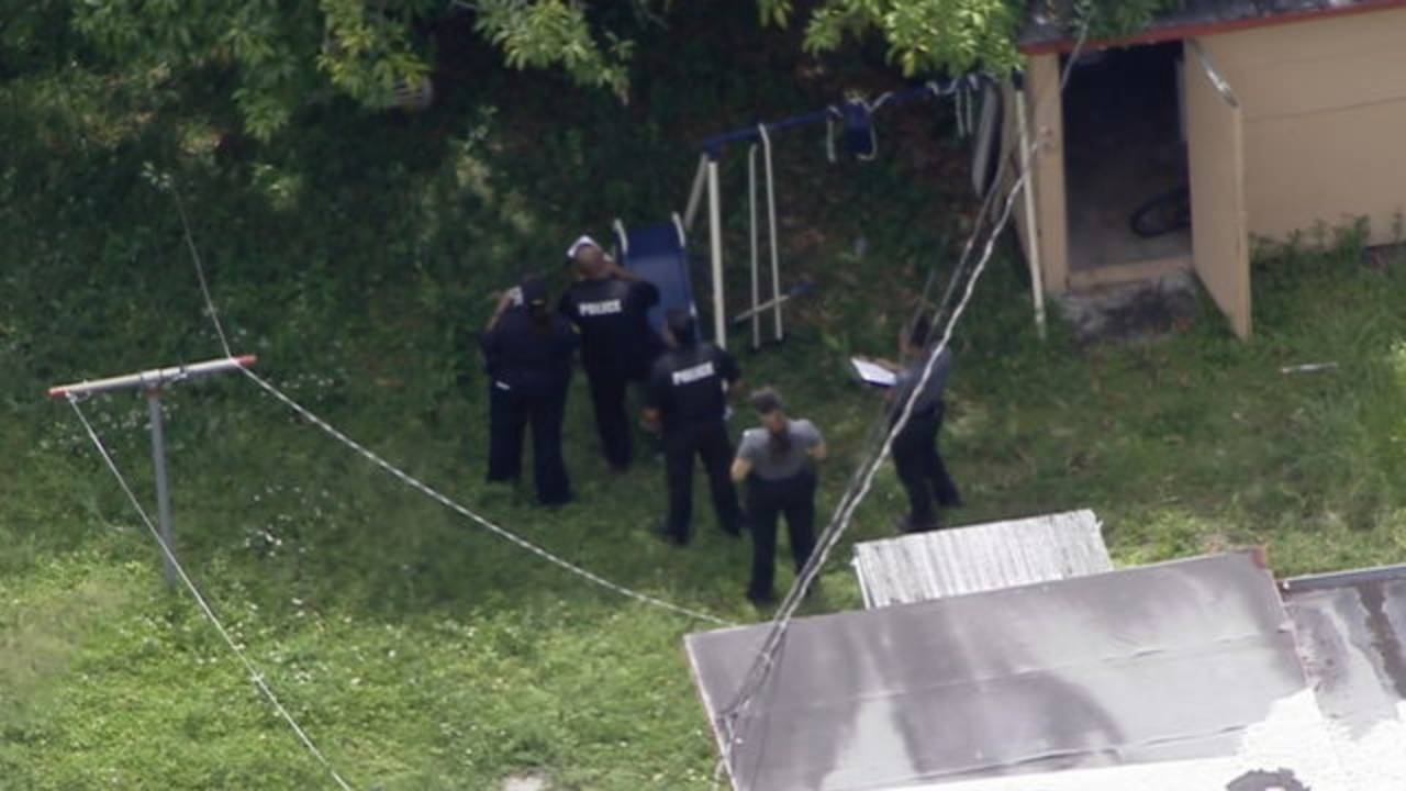Sky 10 over North Miami backyard where teen shot