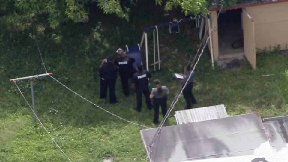 Sky 10 over North Miami backyard where teen shot