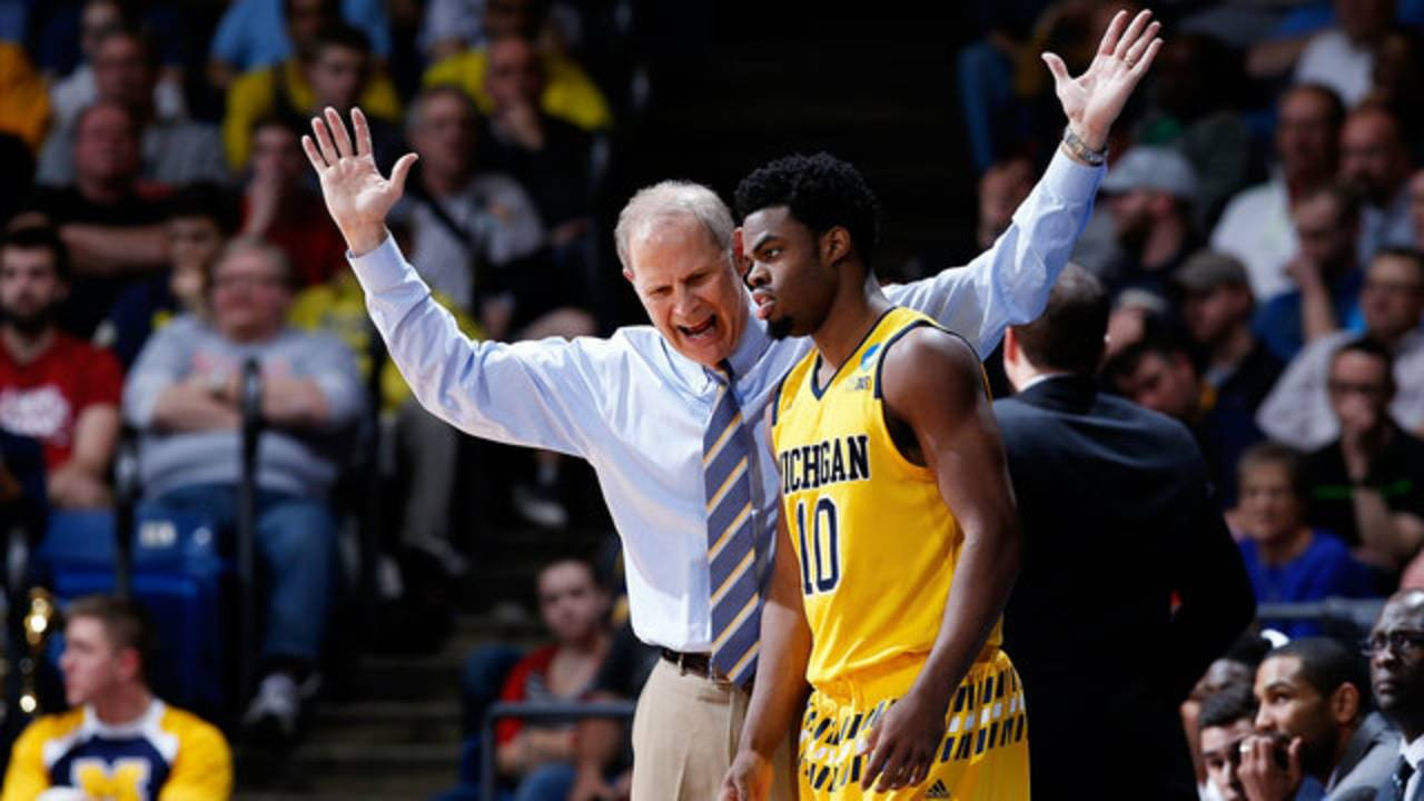 John Beilein and Derrick Walton Jr