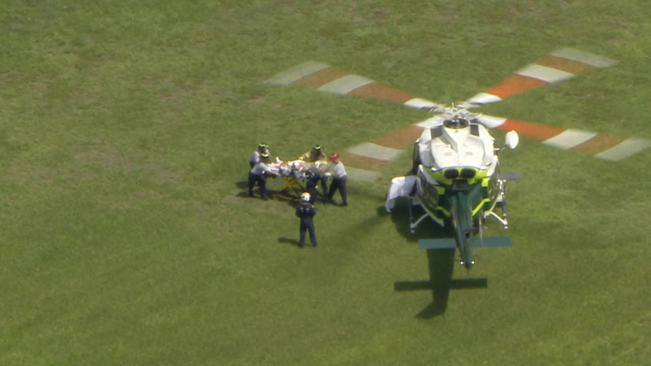 Victim in Taco Bell shooting being placed in chopper