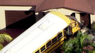 School bus crashes into house in Hialeah