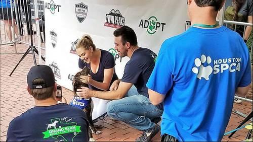 Justin Verlander, Kate Upton raise awareness for dog adoption at Minute Maid Park
