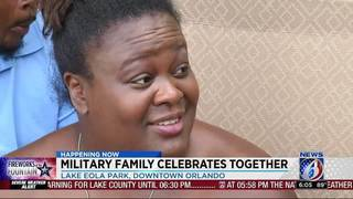 Military family celebrates July 4th together