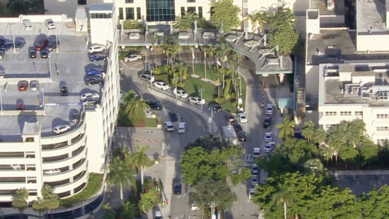Broward Health Center Barricaded Man