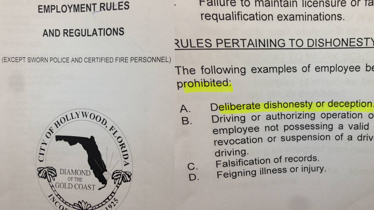 City of Hollywood employment rules