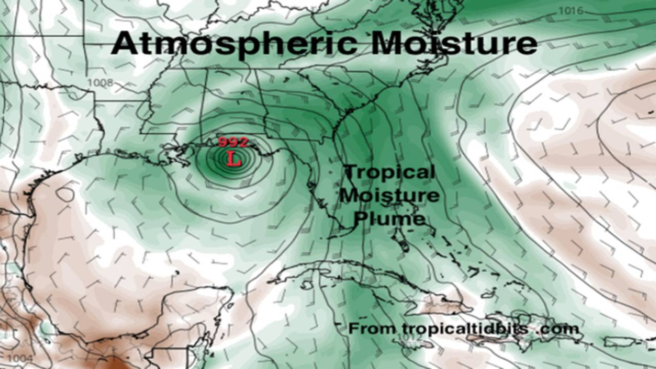 Atmospheric Moisture Map May 25, 2018