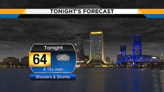 Showers, storms move through NE FL, SE GA overnight into Monday morning