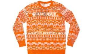 The Whataburger Christmas Sweater is sold out, but not for long