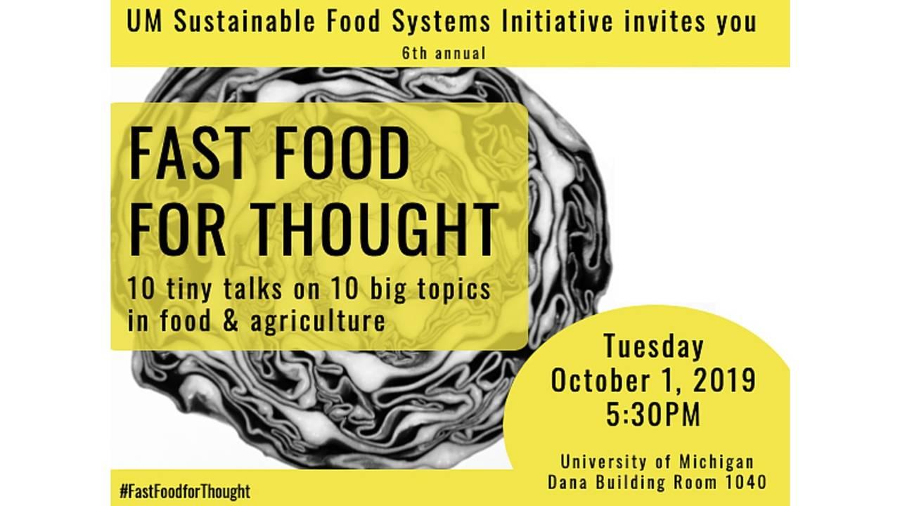 UM Sustainable Food talks
