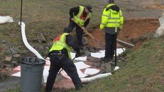 Fuel oil spills into creek in Danville
