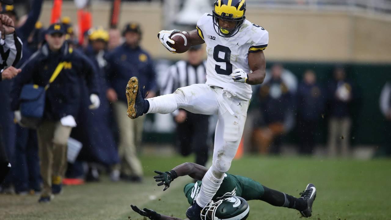 Donovan Peoples-Jones touchdown catch Michigan football vs Michigan State 2018