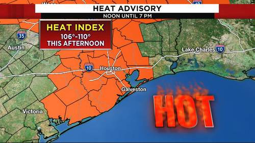 Heat advisory issued for Houston area; some scattered storms expected