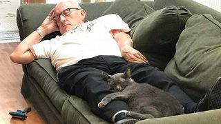 Cat napper: Volunteer goes viral in cutest photos ever