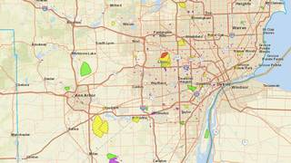 DTE Energy outage map: Severe storms knock out power for...
