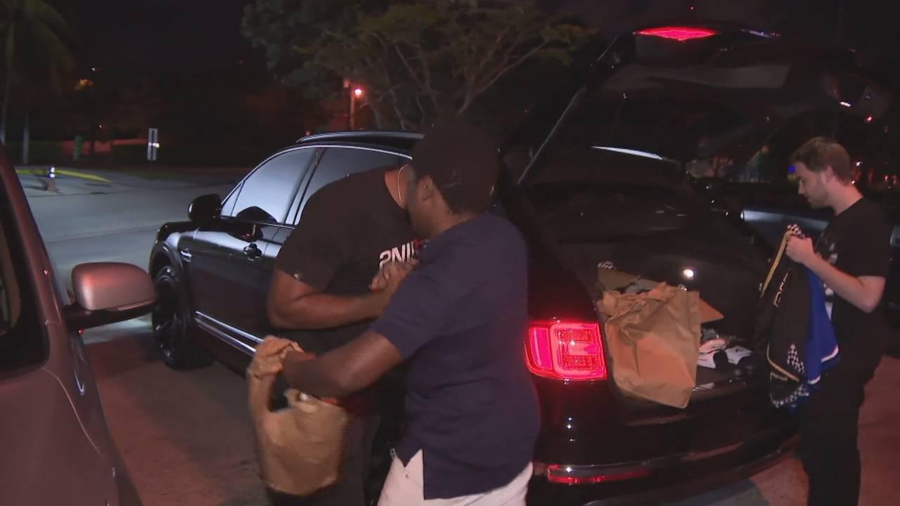 Kodak Black greets man after leaving jail