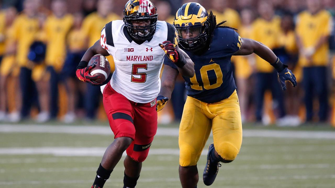 Devin Bush Michigan football vs Maryland 2016