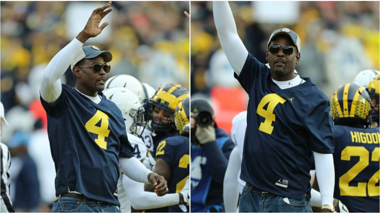 Chris Webber Michigan football honorary captain 2018