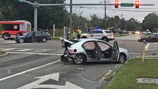 2 drivers hurt in crash at Atlantic Boulevard crash