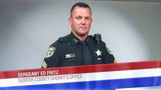 Sergeant Ed Fritz of the Sumter County Sheriff's Office