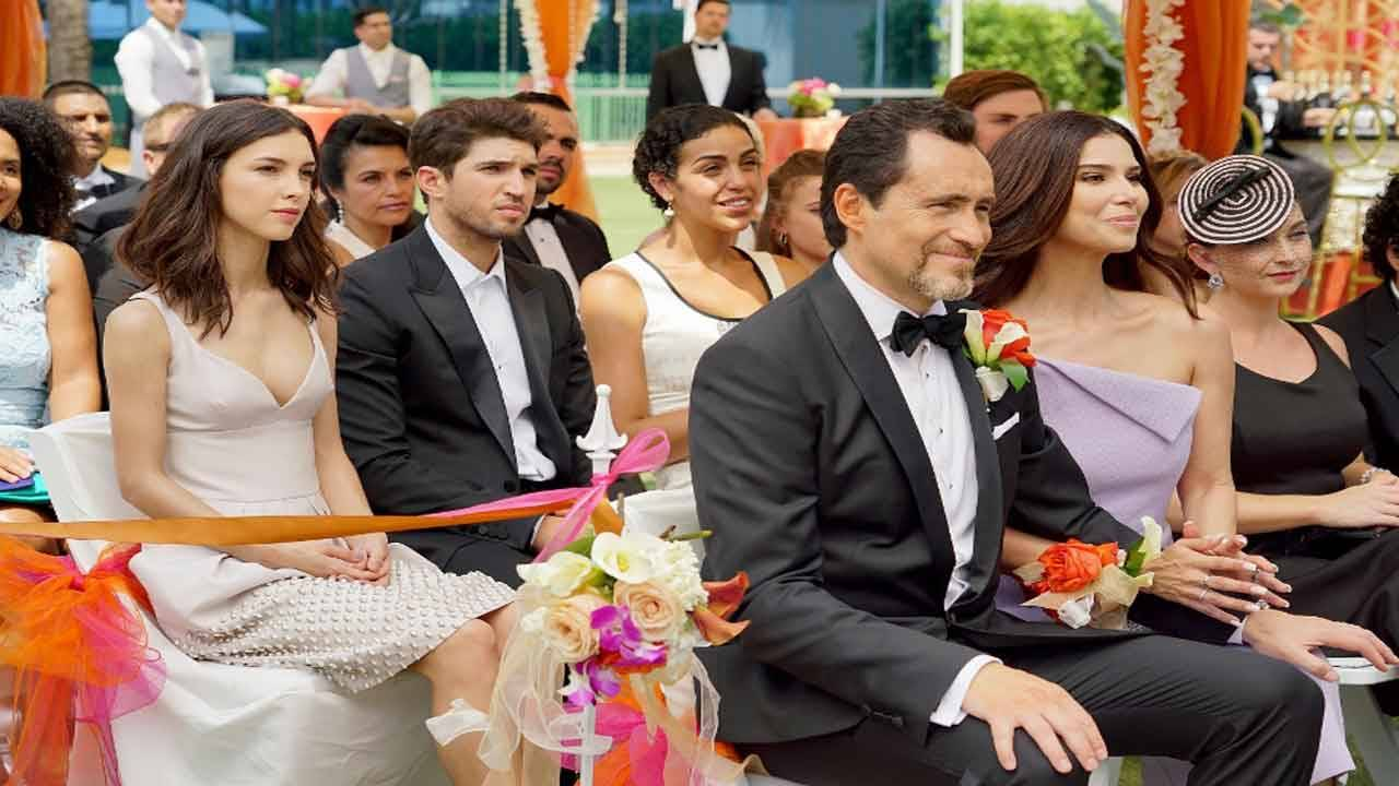 Demian Bichir and Roselyn Sanchez in scene from pilot of 'Grand Hotel'