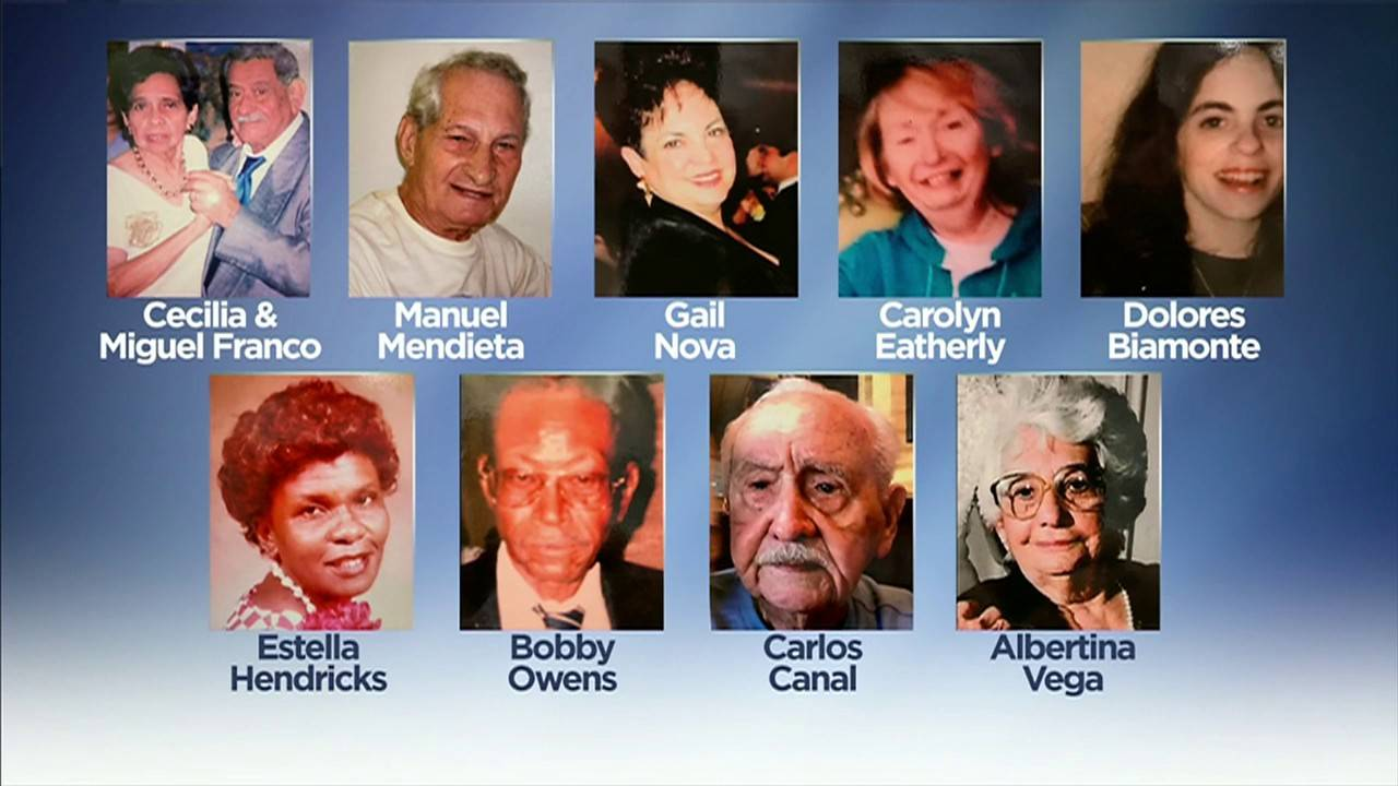 10 victims of Hollywood nursing home deaths