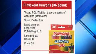 Asbestos found in Playskool crayons, according to advocacy group