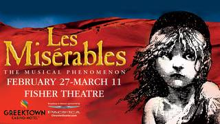 See Les Miserables plus one night at Greektown Casino Hotel and $150 for&hellip&#x3b;