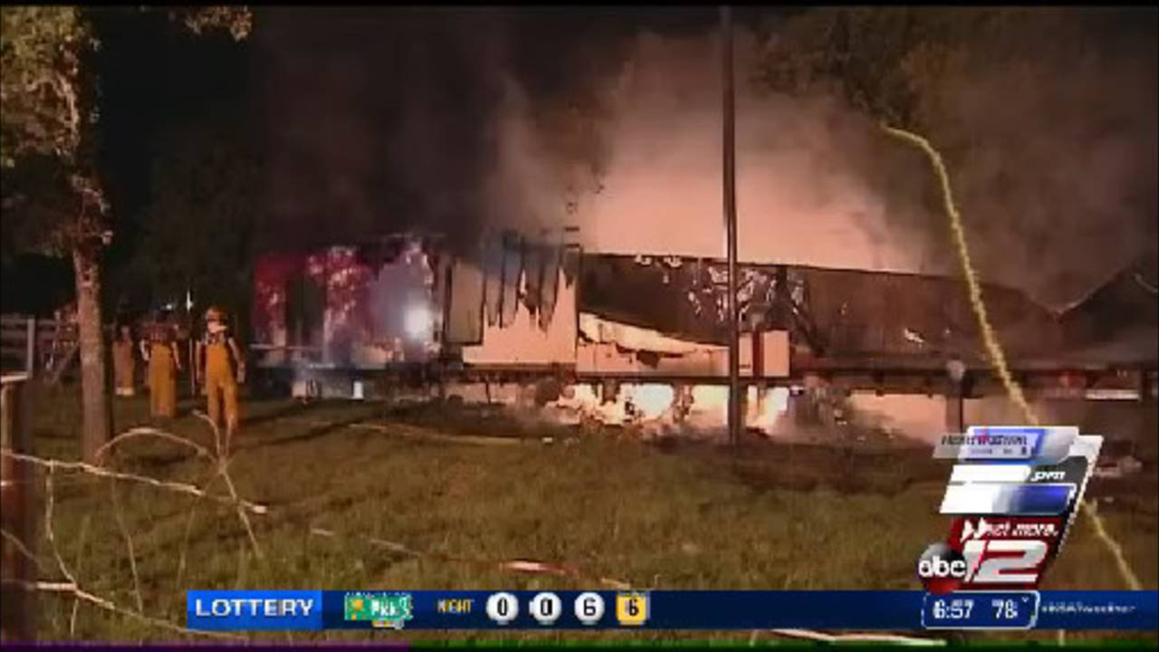 Fire guts South Bexar mobile home
