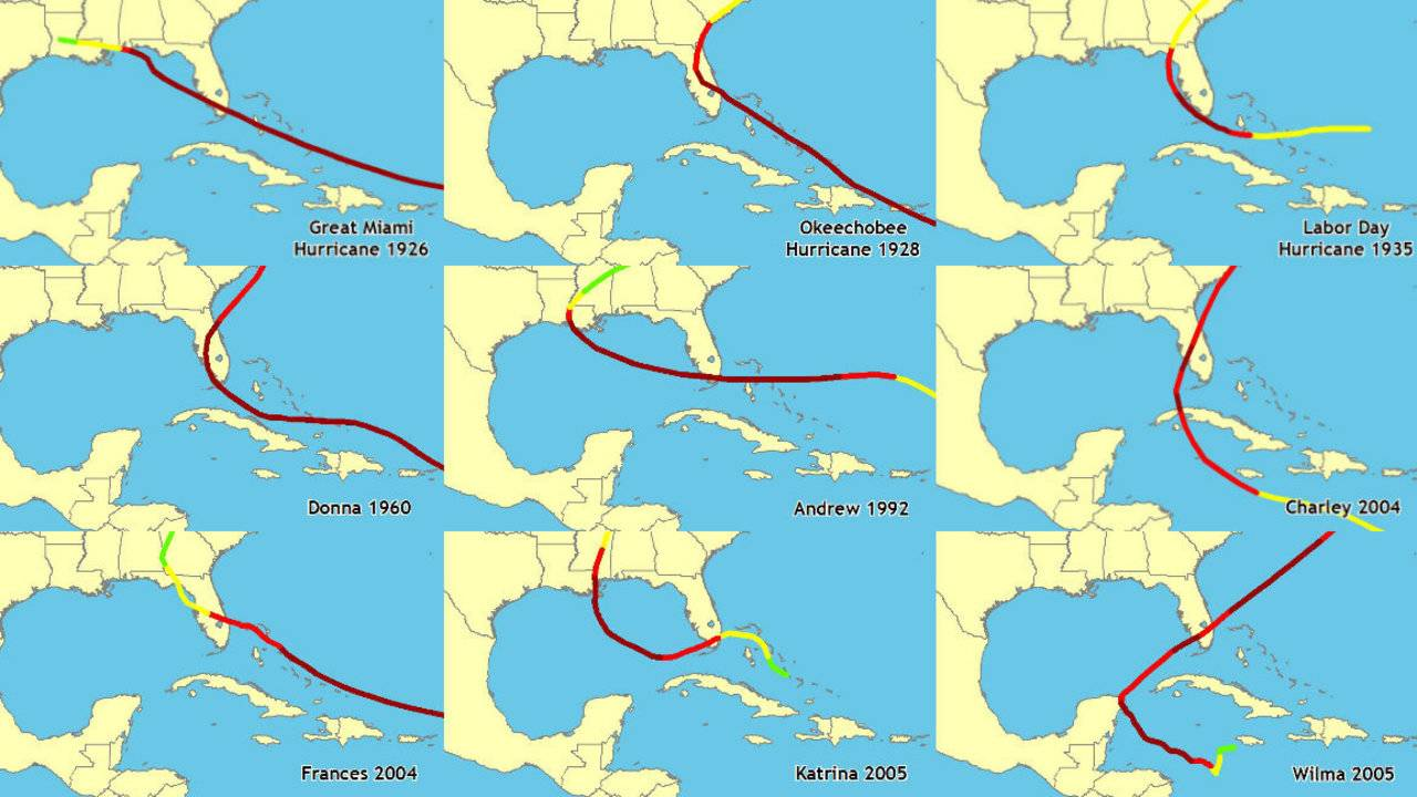 A History Of Strong Hurricanes In Florida From Great Miami