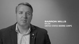 U.S. Marine Corps Maj. Barron Mills shares his story