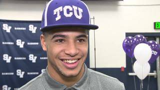 WATCH: Smithson Valley's Trevon Moehrig-Woodard discusses signing with TCU