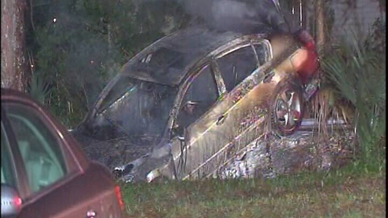 Deputies find body in burned out car