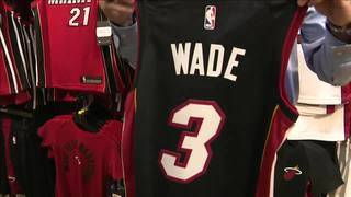 Stores re-stock No. 3 Heat jerseys as D-Wade makes unexpected comeback to Miami
