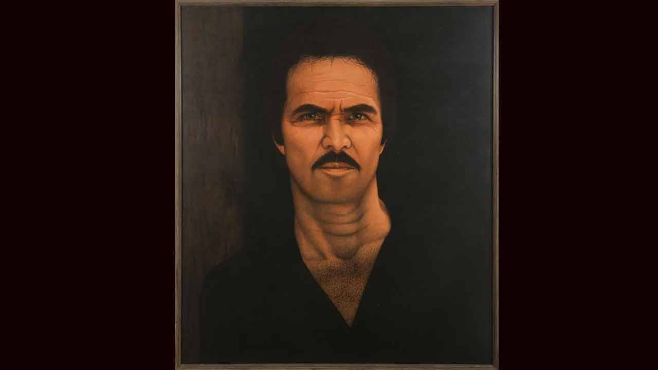 Burt Reynolds signed oil canvas portrait