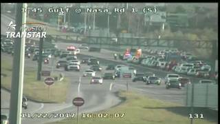 Gulf Freeway reopens after accident shut down all southbound