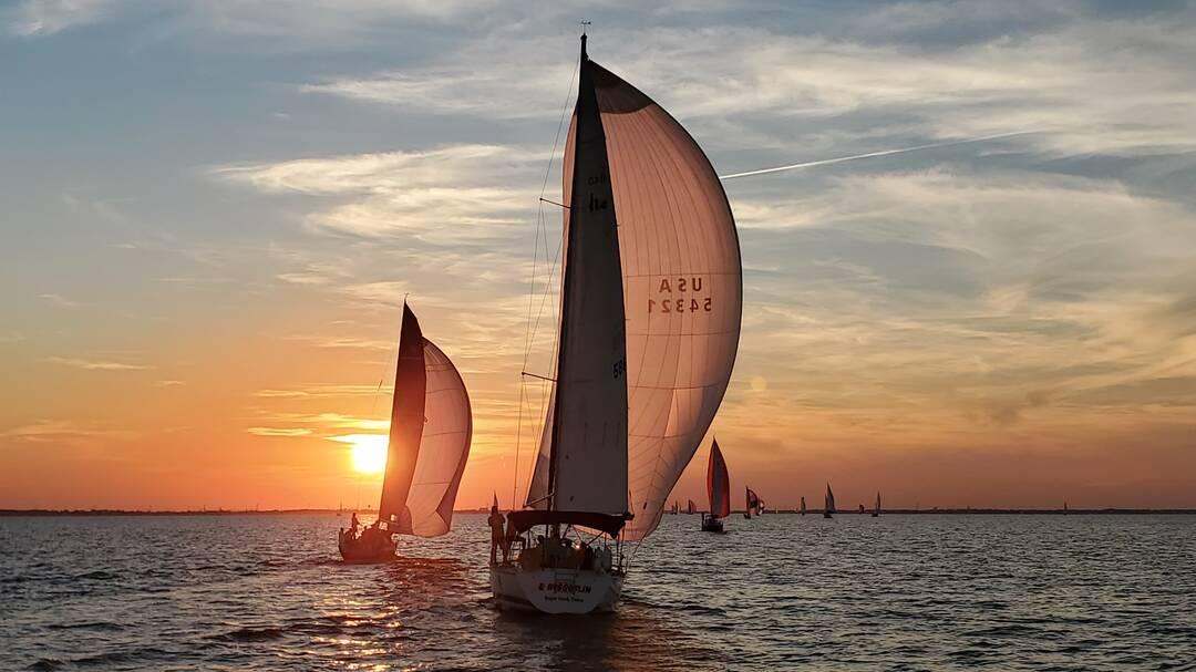 Sailboat race on Galveston Bay