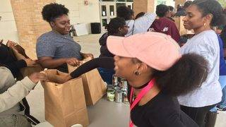 Orange County families receive free meals for students