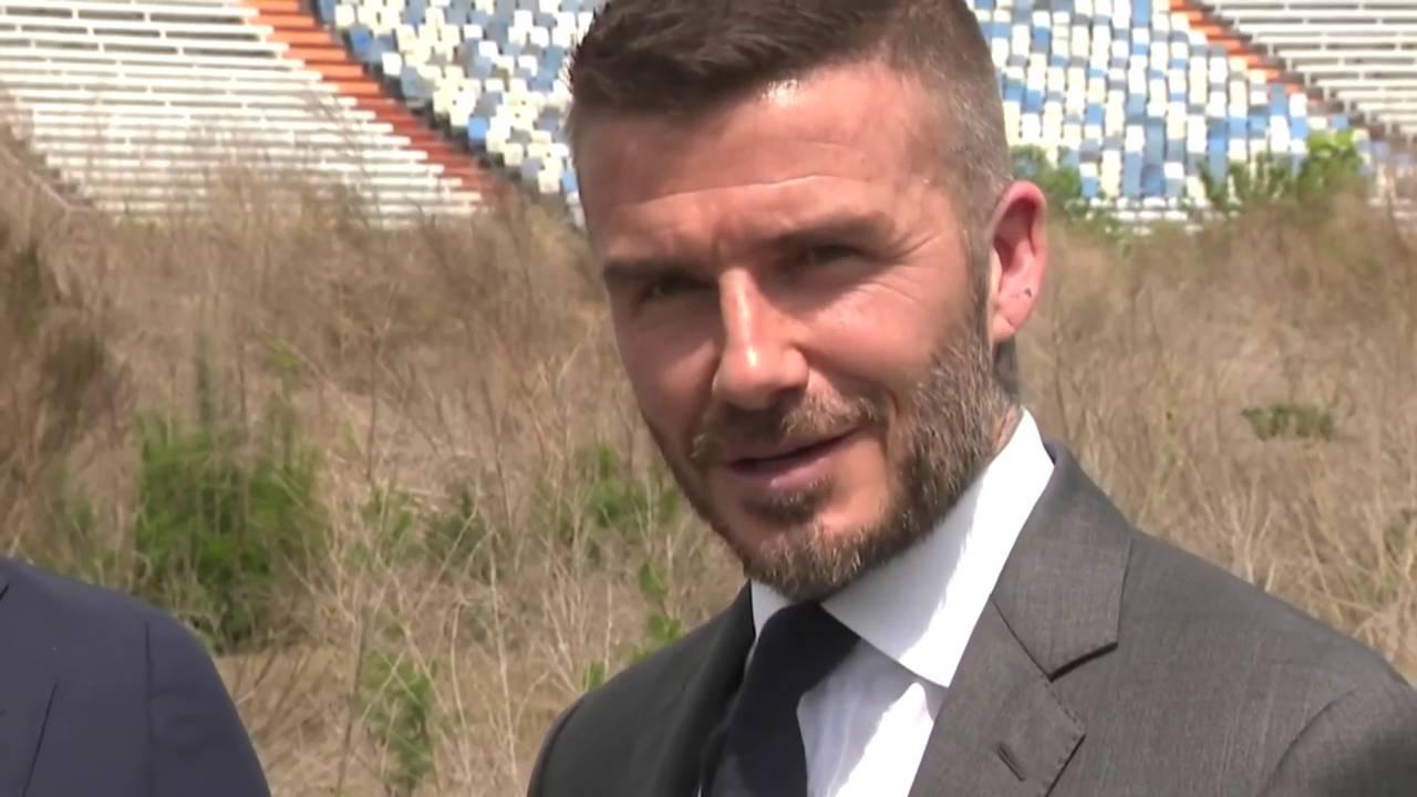 David Beckham at Lokhart Stadium