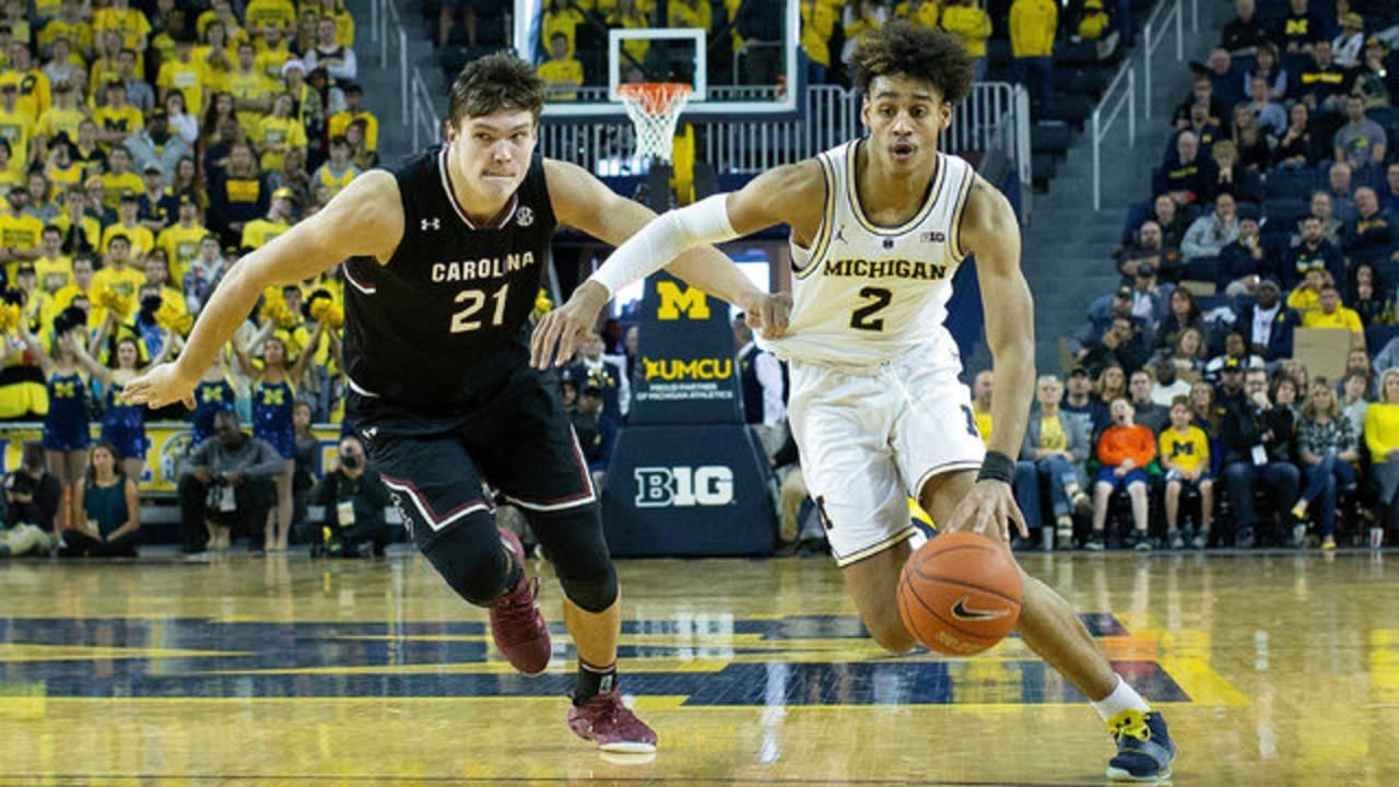 Jordan Poole Michigan basketball vs South Carolina 2018