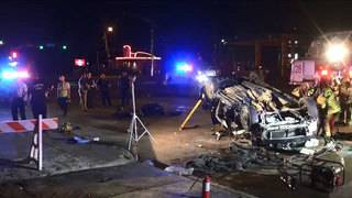 Police chase ends in crash, knocked down light pole in Galleria area