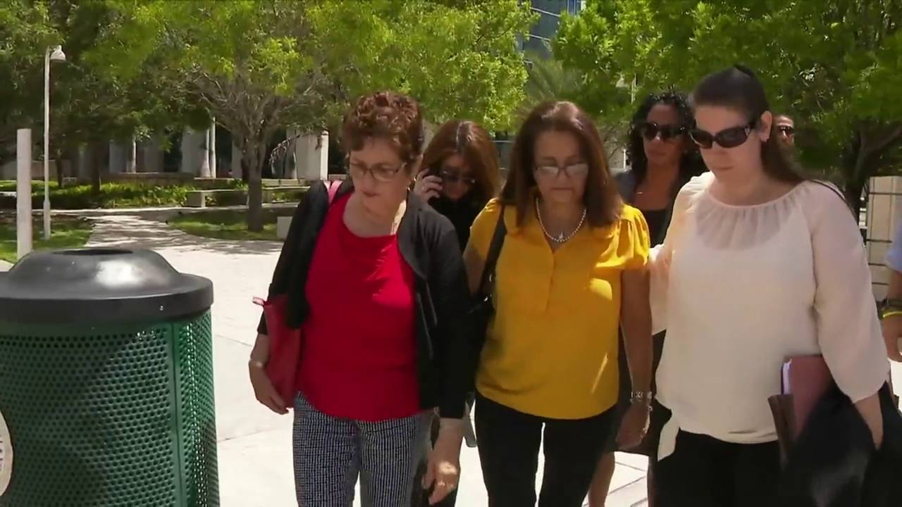 Sherry Oehme and family leave courthouse after Esteban Santiago's sentencing