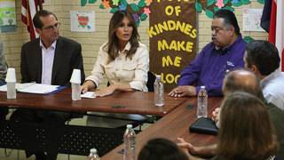 First lady Melania Trump makes surprise visit to US-Mexico border