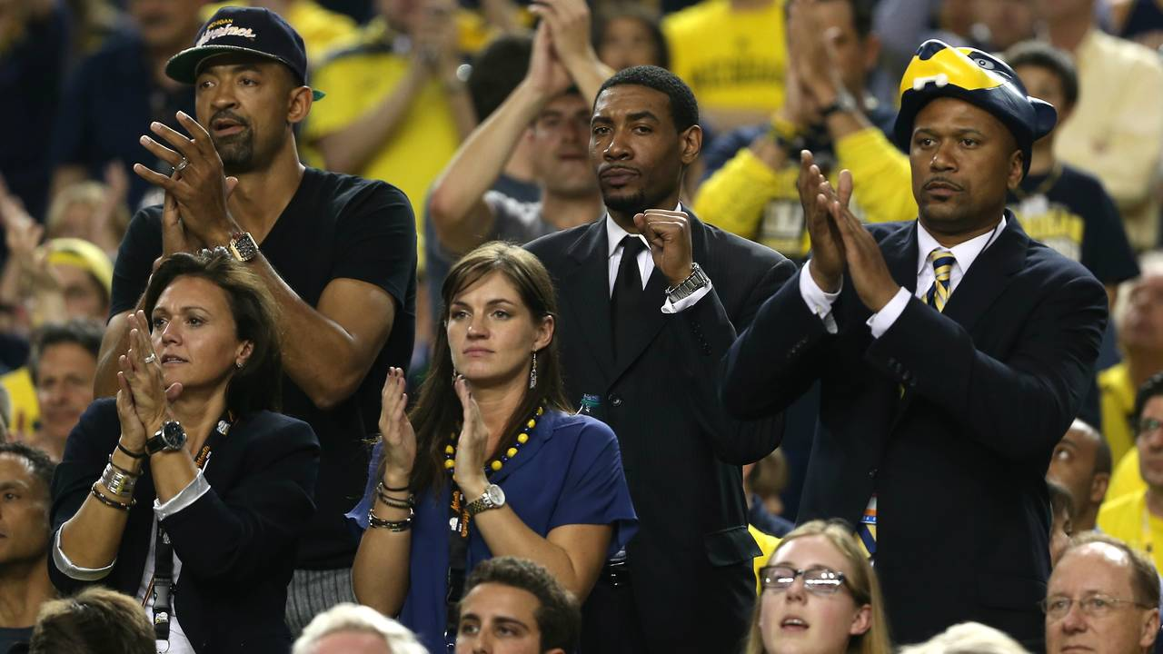 Juwan Howard, Jimmy King and Jalen Rose Michigan basketball championship game 2013