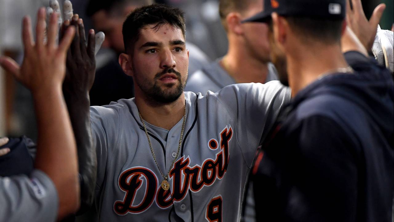 Nicholas Castellanos scores Detroit Tigers vs Angels 2019