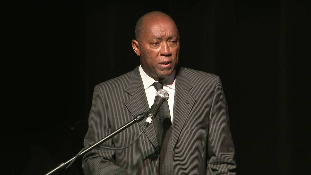 Houston Mayor Sylvester Turner at Meyerland town hall