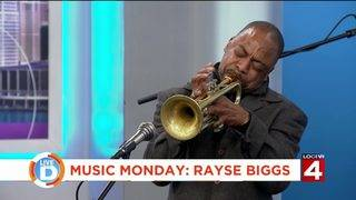 Local trumpet player Rayse Biggs performs live in studio