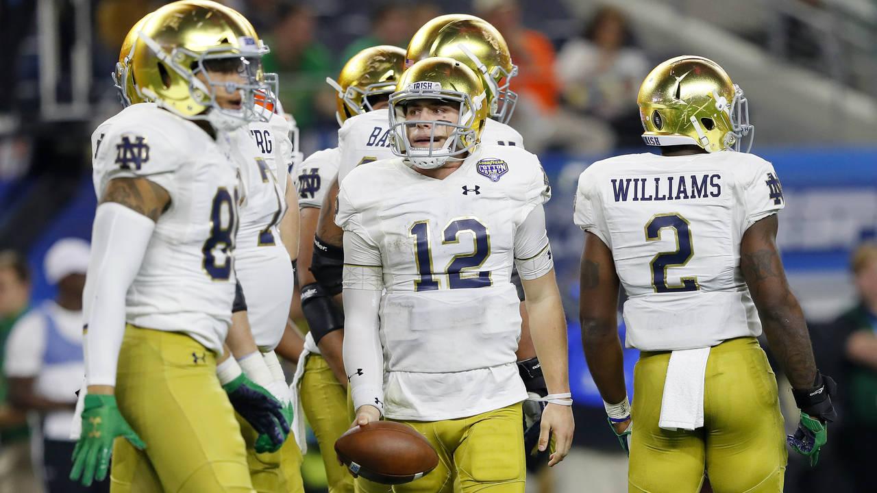 Ian Book Notre Dame football vs Clemson playoff 2018