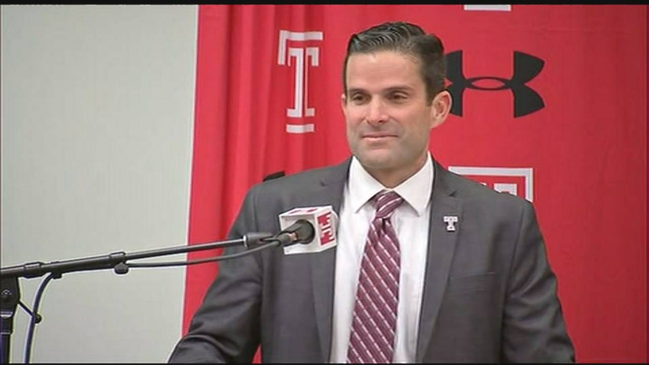 Manny Diaz at Temple news conference