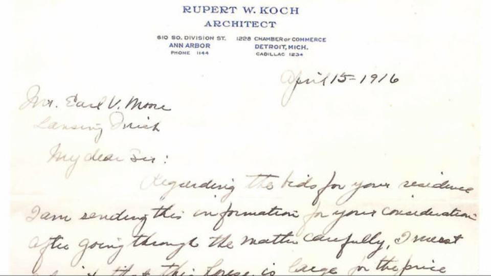Rupert W. Koch letter